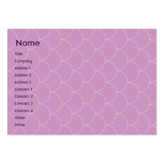 Purple Monster - Chubby Business Card Template