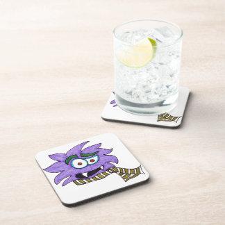 Purple monster drink coaster
