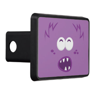 Purple Monster Face Trailer Hitch Cover