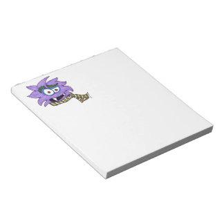 Purple monster notepad