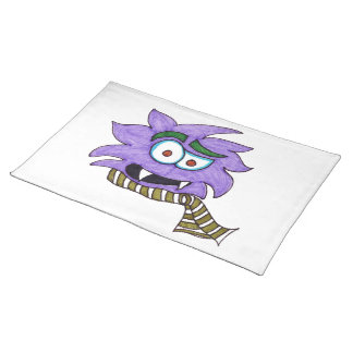 Purple monster placemat