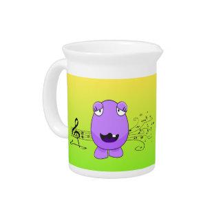 Purple Monster Singing Drink Pitcher