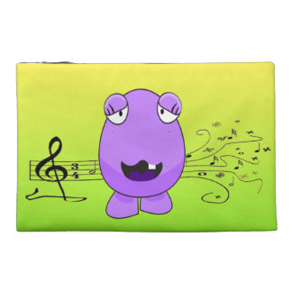 Purple Monster Singing Off Key Travel Accessories Bags