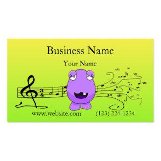 Purple Monster Singing Off Key Business Card