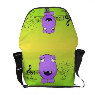 Purple Monster Singing Off Key Courier Bag