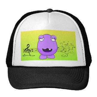 Purple Monster Singing Off Key Trucker Hat