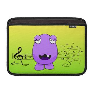 Purple Monster Singing Off Key MacBook Sleeves