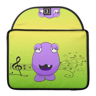 Purple Monster Singing Off Key Sleeve For MacBook Pro