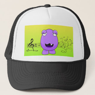 Purple Monster Singing Off Key Trucker Hat
