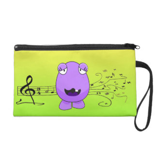 Purple Monster Singing Off Key Wristlet