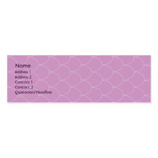 Purple Monster - Skinny Mini Business Card