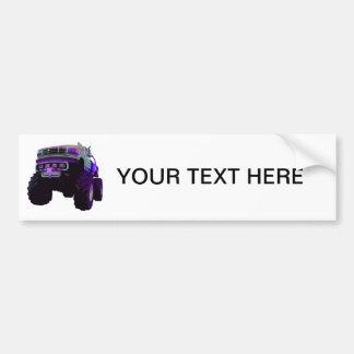Purple Monster Truck Bumper Sticker