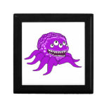 Purple Monster with Four Eyes and Tentacles Trinket Box