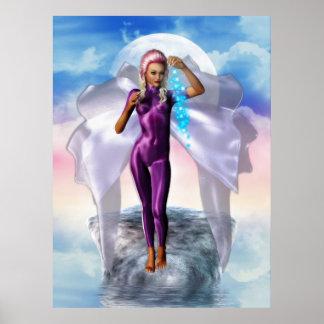 Purple Moon Fairy Poster