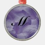Purple Moon Flower Ornaments