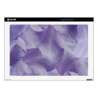 "Purple Moon Flower Petals Decal For 17"" Laptop"
