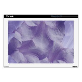"Purple Moon Flower Petals Decal For 17"" Laptop"