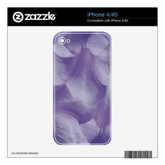Purple Moon Flower Petals iPhone 4 Decal