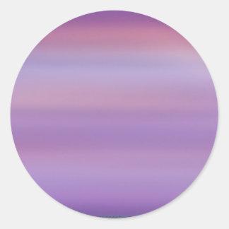 Purple Moon Mist Round Sticker