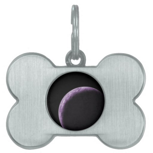 Purple Moon Pet Tag