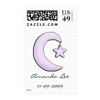 Purple Moon Postage Stamps