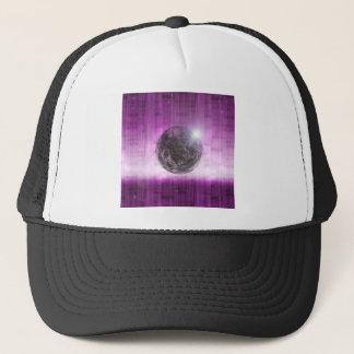 Purple moon trucker hat