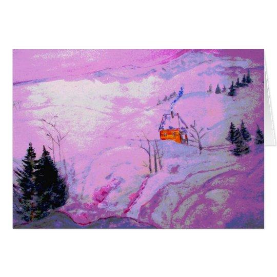 purple moonlight snow card