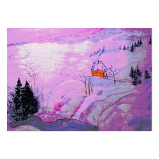 purple moonlight snow large business cards (Pack of 100)
