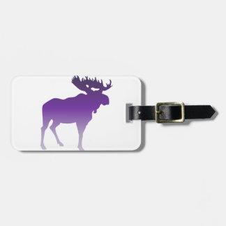 Purple Moose Bag Tag