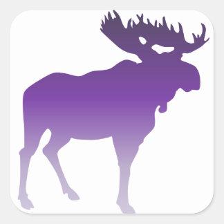 Purple Moose Square Sticker