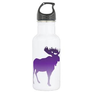 Purple Moose Stainless Steel Water Bottle