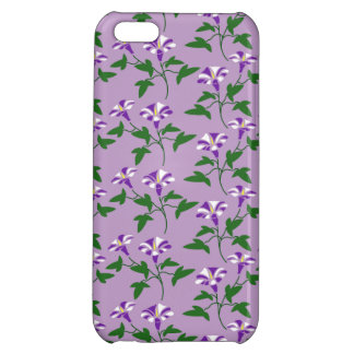 Purple Morning Glories Floral Pattern Cover For iPhone 5C