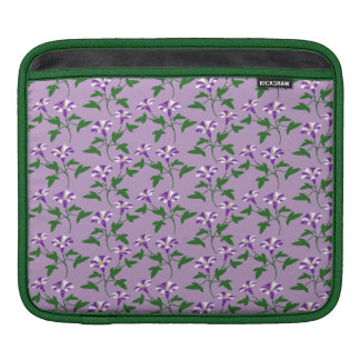 Purple Morning Glories Floral Pattern iPad Sleeve