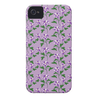 Purple Morning Glories Floral Pattern iPhone 4 Case