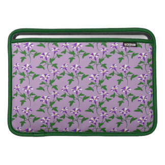 Purple Morning Glories Floral Pattern MacBook Sleeves