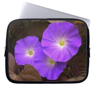 Purple Morning Glories Laptop Sleeve