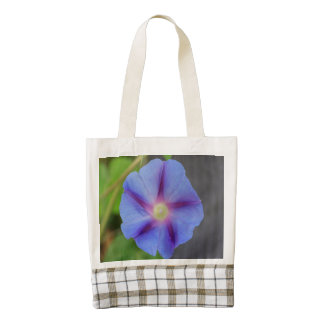 Purple Morning Glories Zazzle HEART Tote Bag