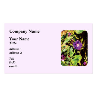 Purple Morning Glory Double-Sided Standard Business Cards (Pack Of 100)