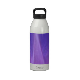 Purple Morning Glory Close-Up Reusable Water Bottle
