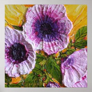 Purple Morning Glory Fine Art Poster