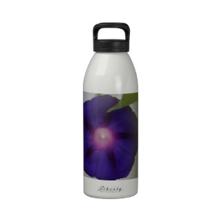 Purple Morning Glory Flower Bud Water Bottle