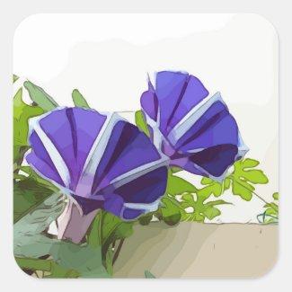 Purple Morning Glory flower Sticker