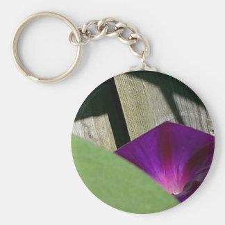 Purple Morning Glory Key Chain