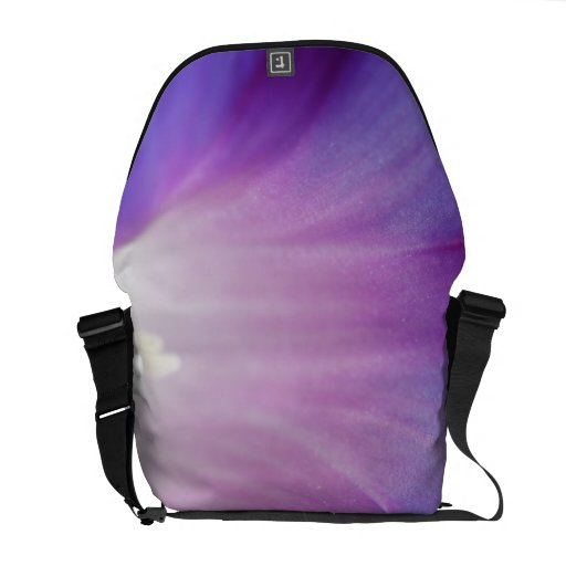 Purple Morning Glory Messenger Bags