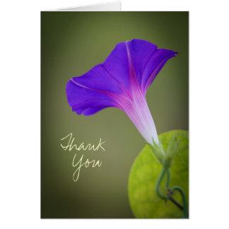 Purple Morning Glory Thank You Card