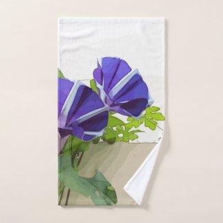 Purple Morning Glory Towel