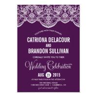 Purple Moroccan Lace Pattern Wedding Invitation (<em>$2.06</em>)