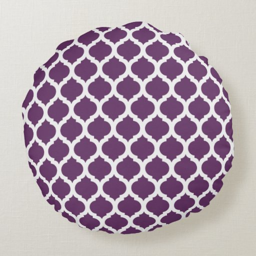 Purple Moroccan Pattern Round Pillows Round Pillow Zazzle