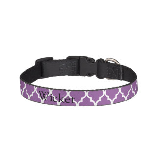 Purple Moroccan Print Dog Collar