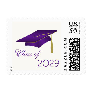 Purple mortar cap Class of any year Postage